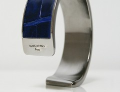 bracelet - Dana - Shiny blue crocodile 2 Carnet de Mode online fashion store Europe France