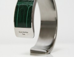 bracelet - Dana - Shiny green crocodile Carnet de Mode online fashion store Europe France