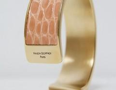 bracelet - Dana - Shiny pink crocodile Carnet de Mode online fashion store Europe France
