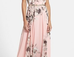 Charming Floral Printed Sleeveless Maxi Dress OASAP online fashion store China