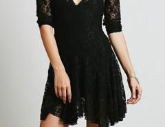 Charming V Neck Mini Lace Dress OASAP online fashion store China