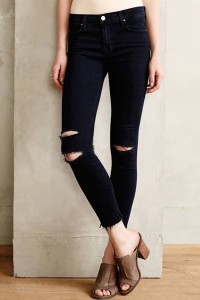 Chic Distressed Frayed Denim Pants OASAP online fashion store China