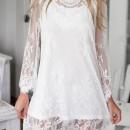 Chic Lace-Paneled Scalloped Hem Dress OASAP online fashion store China