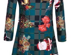 Christmas Ornaments Pattern Round Neck Dress OASAP online fashion store China