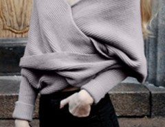 Classic Solid Color Wrap Batwing Sleeve Shawl OASAP online fashion store China