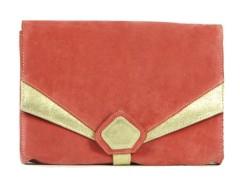clutch - CREAMY - salmon pink velvet Carnet de Mode online fashion store Europe France