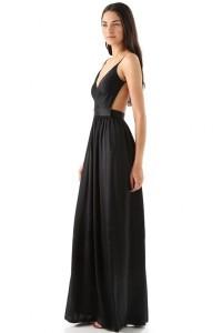 Elegant V Neck Backless Maxi Dress OASAP online fashion store China