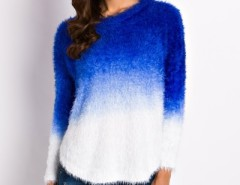 Fashion Gradient Ramp Mohair Knit Sweater OASAP online fashion store China