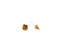 Every Rose Has Its Thorn Earrings. Rose or Antiqued Gold. MrKate.com online fashion store USA