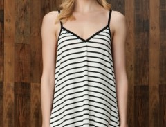 Gorgeous Striped Backless Mini Dress OASAP online fashion store China
