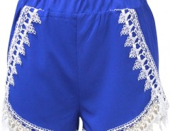 Hot Blue Lace Tassel Woman Shorts OASAP online fashion store China