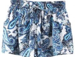 Iconic Printed  Elastic Waist Shorts OASAP online fashion store China