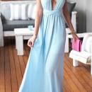 Light Blue Perfect Date Maxi Dress OASAP online fashion store China