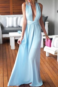 Light Blue Perfect Date Maxi Dress OASAP online fashion store China