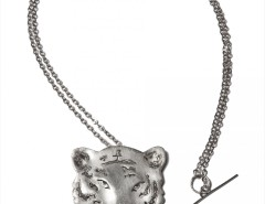 pendant-brooch silver necklace - tiger Carnet de Mode online fashion store Europe France