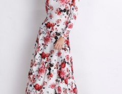 Rustic Romance Floral Long Sleeves Dress OASAP online fashion store China