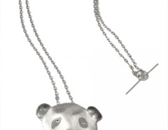 silver pendant/necklace - Panda Carnet de Mode online fashion store Europe France