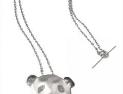 silver pendant/necklace - Panda Carnet de Mode online fashion store Europe France