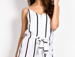 Fancy Girl Pinstripes Print Rompers OASAP online fashion store China