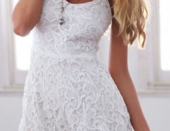 Spaghetti Straps White Lace Romper OASAP online fashion store China