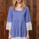 Stylish Lace Paneled Mini Dress OASAP online fashion store China
