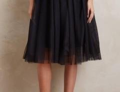 Sweet Mesh Layered Skirt Elastic Waist Midi Skirt OASAP online fashion store China