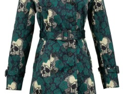 Vintage Skull Print Double-Breasted Belted Coat OASAP online fashion store China